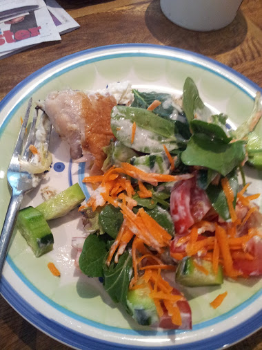Roast Chicken with Salad and a Tahini Dressing